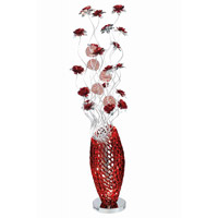 Elegant Lighting South Beach 8 Light Floor Lamp in Red and Silver FL4002