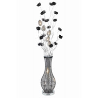 Elegant Lighting South Beach 8 Light Floor Lamp in Silver and Black FL4007