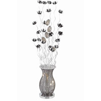Elegant Lighting South Beach 8 Light Floor Lamp in Silver and Black FL4009