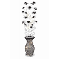 Elegant Lighting South Beach 8 Light Floor Lamp in Black and Silver FL4011