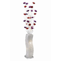 Elegant Lighting South Beach 8 Light Floor Lamp in Silver Purple Red FL4012