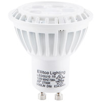 Elitco Lighting by Elegant Lighting LED GU10 Spot Light 7 Watt 120V GU10 Bulb 2700K in White, Dim-Driver, 50 Watt Equivalent, 35, 500 Lumens, 80 CRI, GU-7-D-27-35