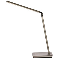 Elegant Lighting LEDDS001 Illumen 31 inch 10 watt Metallic Grey LED Desk Lamp Portable Light, with USB Port