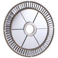 Elegant Lighting 32-in. Mirrored Medallion in Silver with Clear Mirror MD405D32SC