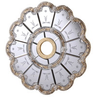 Elegant Lighting 24-in. Mirrored Medallion in Gold with Clear Mirror MD408D24GC