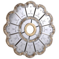 Elegant Lighting 32-in. Mirrored Medallion in Gold with Clear Mirror MD409D32GC
