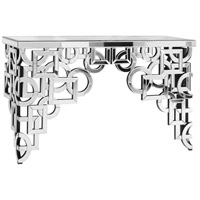 Modern 58 X 18 inch Silver and Clear Mirror Console Table Home Decor