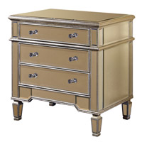 Elegant Lighting Florentine 3 Drawer Cabinet in Silver and Clear Mirror MF1-1002SC