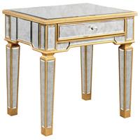 Elegant Lighting Florentine Lamp Table in Gold and Antique Mirror MF1-2001GA