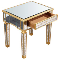 Florentine 26 X 20 inch Gold and Clear Mirror Table Home Decor