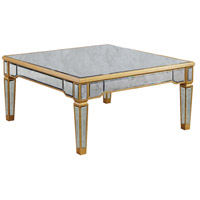 Elegant Lighting Florentine Coffee Table in Gold and Antique Mirror MF1-2002GA