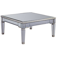 Elegant Lighting Florentine Coffee Table in Silver and Clear Mirror MF1-2002SC