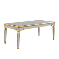 Elegant Lighting Florentine Dining Table in Gold and Antique Mirror MF1-3001GA