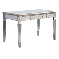 Elegant Lighting Florentine 3 Drawer Desk in Silver and Clear Mirror MF1-4002SC