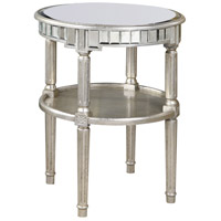 Elegant Lighting Florentine Round Table in Silver and Antique Mirror MF1-4003SA