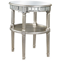 Elegant Lighting Florentine Round Table in Silver and Clear Mirror MF1-4003SC - Open Box
