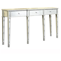Elegant Lighting Florentine 3 Drawer Table in Silver and Antique Mirror MF1-4004SA