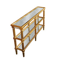 Elegant Lighting Florentine Console Table in Gold and Antique Mirror MF1-4005GA