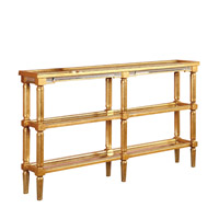 Elegant Lighting Florentine Console Table in Gold and Clear Mirror MF1-4005GC