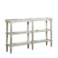 Elegant Lighting Florentine Console Table in Silver and Antique Mirror MF1-4005SA