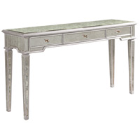 Elegant Lighting Florentine 3 Drawer Console Table in Silver and Antique Mirror MF1-5101SA