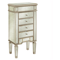 Elegant Lighting Florentine 4 Drawer Jewelry Armoire in Sliver and Antique Mirror MF1-5102SA