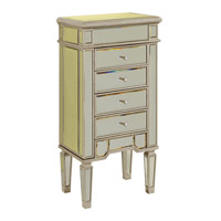 Elegant Lighting Florentine 4 Drawer Jewelry Armoire in Silver and Clear Mirror  MF1-5102SC