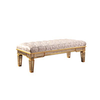 Florentine Gold and Antique Mirror Bench Home Decor
