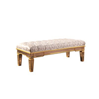 Elegant Lighting Florentine Bench in Gold and Clear Mirror MF1-5103GC