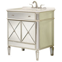Elegant Lighting Camille 2 Door Vanity Cabinet in Sliver and Clear Mirror  MF1-5105SC