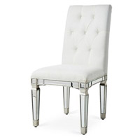 Florentine Silver and Clear Mirror Chair Home Decor