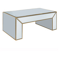 Elegant Lighting Manhattan Coffee Table in Silver and Clear Mirror MF2-2001GC