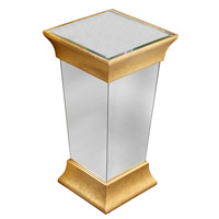 Elegant Lighting Manhattan Pedestal in Gold and Clear Mirror MF2-4002GC
