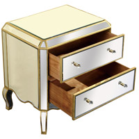 Elegant Lighting Camille 2 Drawer Cabinet in Gold and Clear Mirror MF3-1001GC