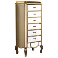 Elegant Lighting Camille 6 Drawer Chest in Gold and Clear Mirror MF3-1002GC