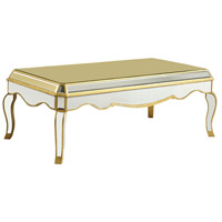 Camille 52 X 28 inch Gold and Clear Mirror Table Home Decor