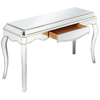 Elegant Lighting Camille 1 Drawer Desk in Silver and Clear Mirror MF3-4001SC