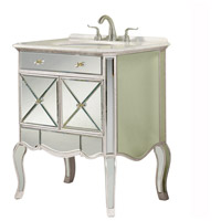 Elegant Lighting Camille Vanity Cabinet in Silver and Clear Mirror MF3-5106SC