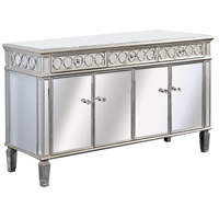 Elegant Lighting Audrey 4 Door Cabinet in Silver and Clear Mirror MF4-1002SC