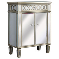Elegant Lighting Audrey 2 Door Cabinet in Silver and Clear Mirror MF4-1003SC