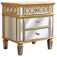 Elegant Lighting Audrey 2 Drawer Lamp Table in Gold and Clear Mirror MF4-2001GC