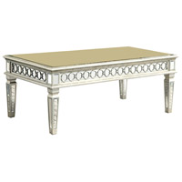 Elegant Lighting Audrey Coffee Table in Silver and Clear Mirror MF4-2002SC