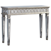 Elegant Lighting Audrey Console Table in Silver and Clear Mirror MF4-4001SC