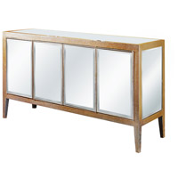 Elegant Lighting Mirage 4 Door Buffet in Silver and Clear Mirror MF5-1001SC