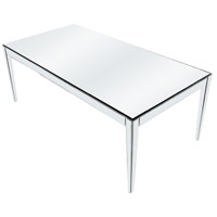 Elegant Lighting Mirage Dining Table in Silver and Clear Mirror MF5-3001SC