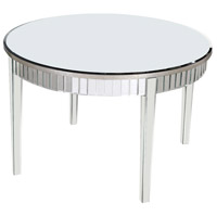 Elegant Lighting Mirage Round Table in Silver and Clear Mirror MF5-3002SC