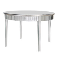 Elegant Lighting Mirage Round Table in Silver and Clear Mirror MF5-3003SC