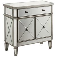 Elegant Lighting Singature Cabinet 1-Drawer 2-Door 32 L x 16 W x 32 H in Silver with Clear Mirror MF6-1002SC