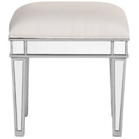 Elegant Lighting MF6-1007S Contempo 18 inch Silver Vanity Stool, Clear Mirror