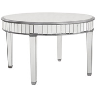 Chamberlan Silver Dining Table Home Decor, Round, Clear Mirror